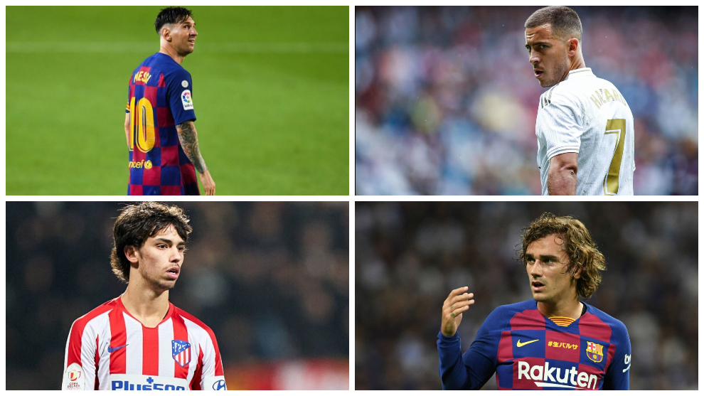 Stars under the spotlight: Messi, Hazard, Griezmann and Joao Felix