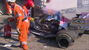 Lance Stroll sufrió un accidente en el Gran Premio de Toscana de F1....