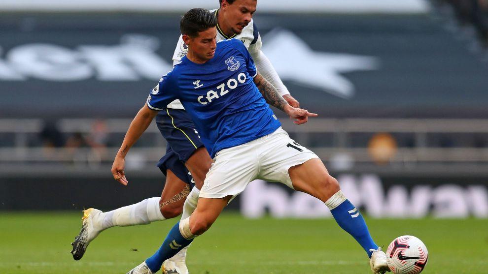 James Rodriguez stars as Ancelotti's Everton beat  Mourinho's Tottenham - Premier League
