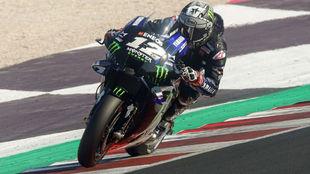 Maverick Viñales, en carrera en Misano.