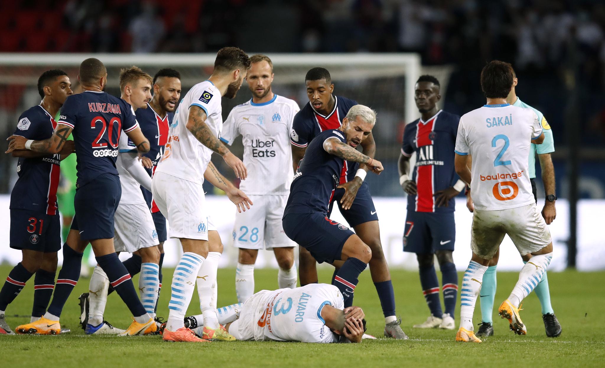 PSG vs Marsella: El PSG pierde ante el Marsella en un Clásico vergonzoso  con cinco expulsados - Ligue 1