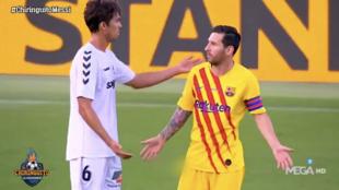 """El aviso de Messi a un rival durante un amistoso: """"¡Deja de darme patadas, boludo!"""""""