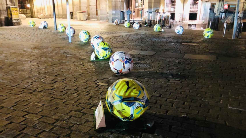 Madrid remove bollards in the city after they were mistaken for real footballs