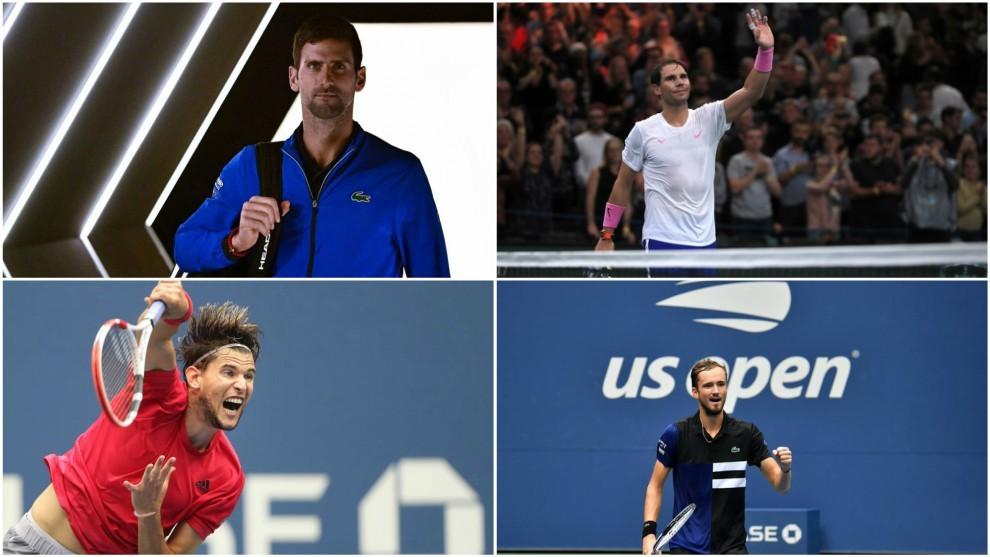 Djokovic, Nadal, Thiem y Medvedev, clasificados para Londres