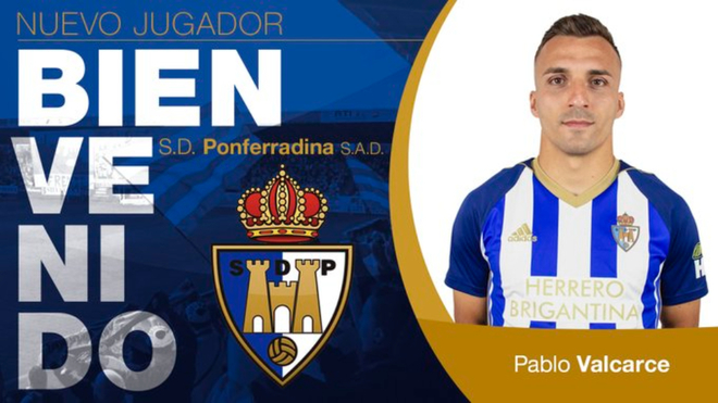 Pablo Valcarce regresa a la SD Ponferradina