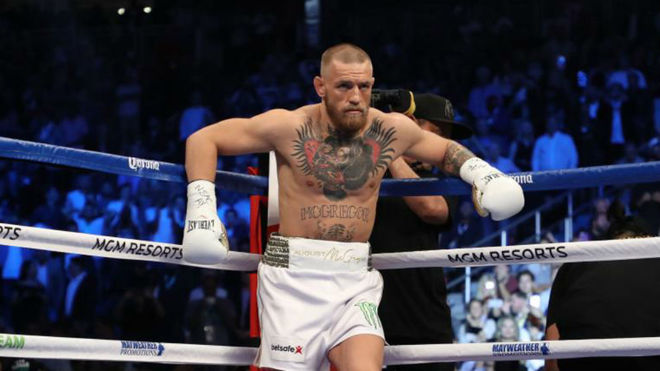Conor McGregor, tras perder ante Floyd Mayweather.