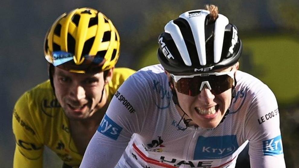 Pogacar y Roglic, durante una etapa de este Tour de Francia