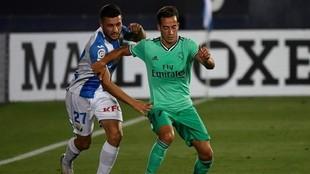 Lucas Vázquez y Óscar Rodríguez, durante el Leganés-Real Madrid de...