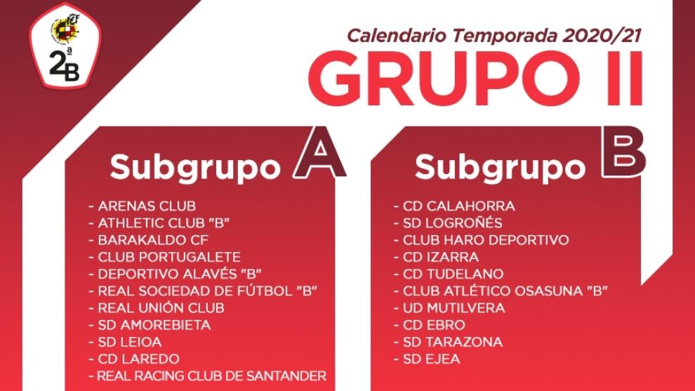 Así es el calendario del Grupo II de Segunda B: Subgrupo A y B