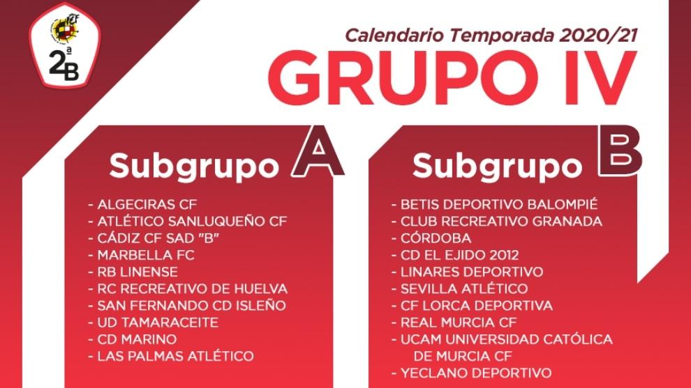 Así es el calendario del Grupo IV de Segunda B: Subgrupo A y B