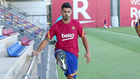 Luis Suárez, en un entrenamiento reciente