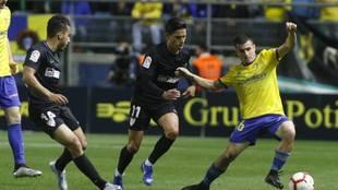 Matos, en un partido con el Cádiz ante el Málaga