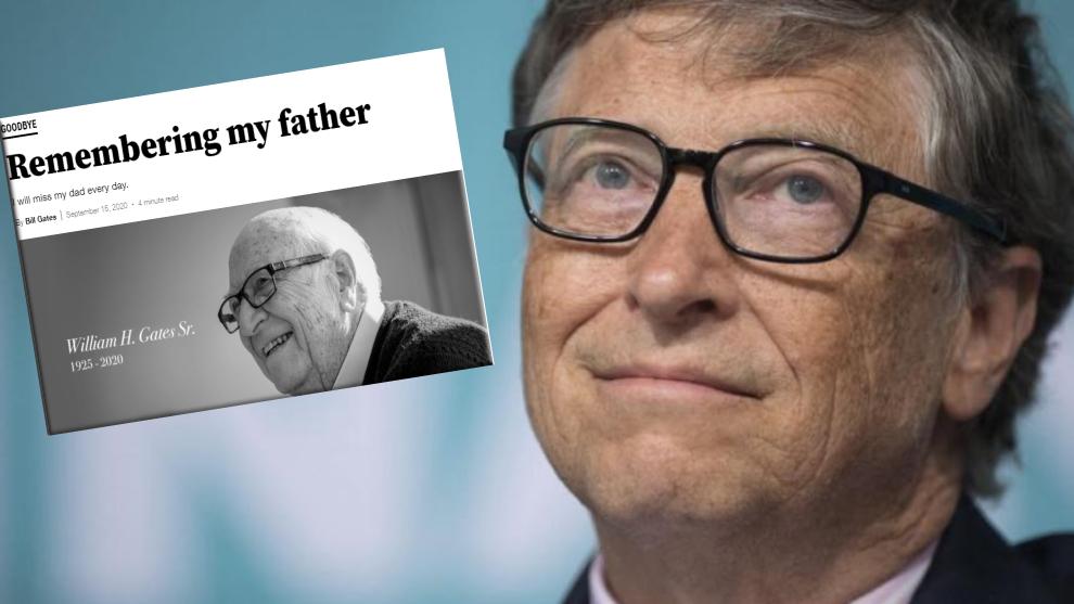 Bill Gates, en una imagen de archivo, junto a la carta en su blog para...