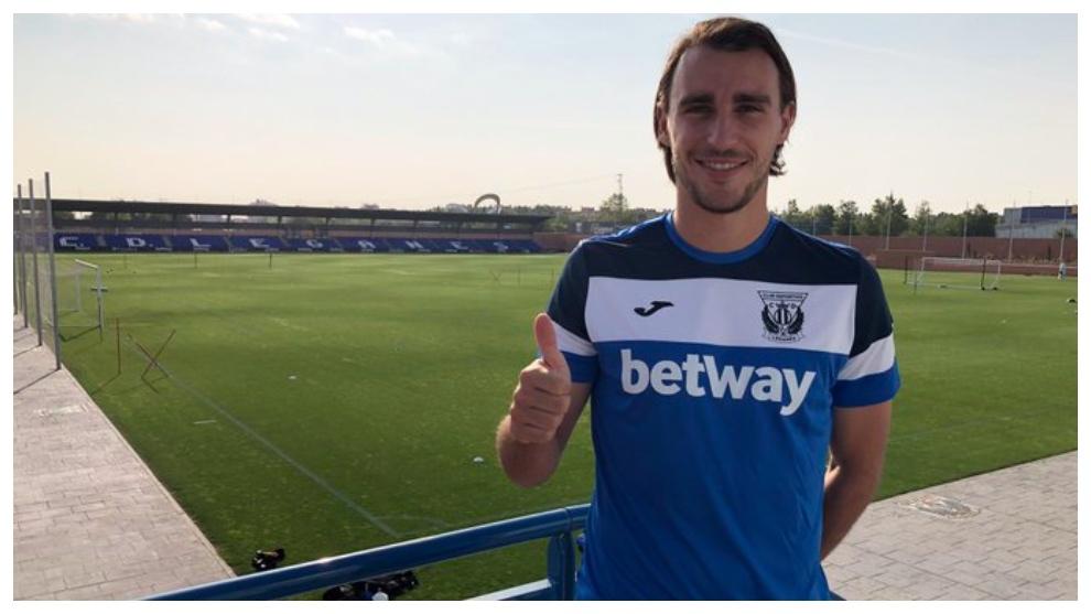 Ignasi Miquel, nuevo jugador del Leganés. Twitter CD Leganés