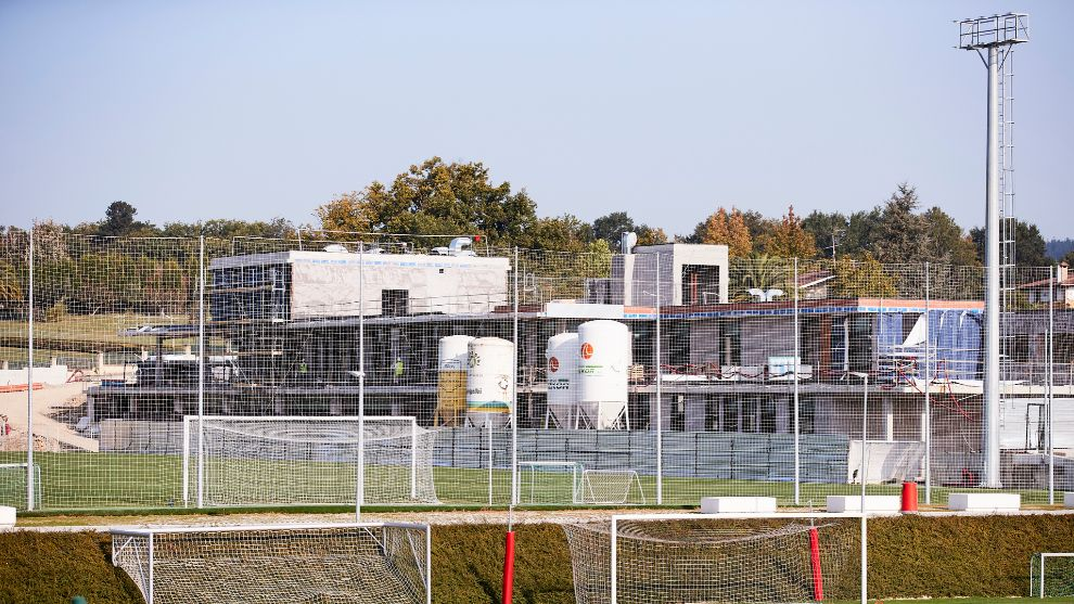 El nuevo edificio para el primer equipo va tomando forma.