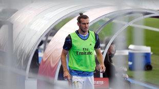 Gareth Bale, durante un partido de la temporada pasada con el Real...