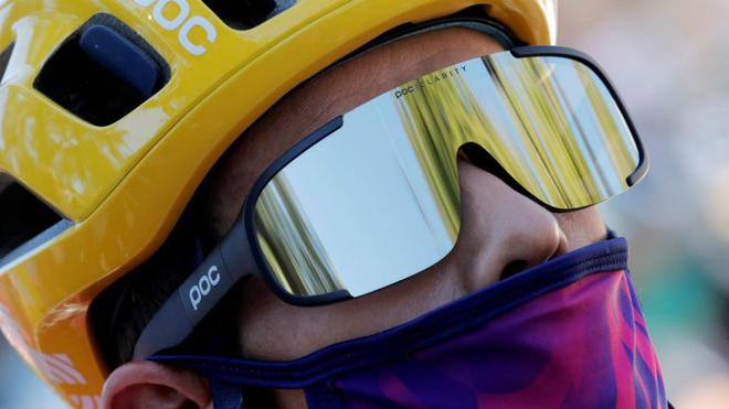 Rigoberto Urán durante una etapa del Tour de Francia.