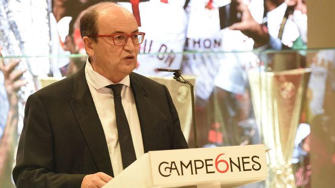 José Castro, en la recepción por la conquista de la Europa League.