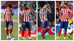 Joao, Lemar, Morata y Costa