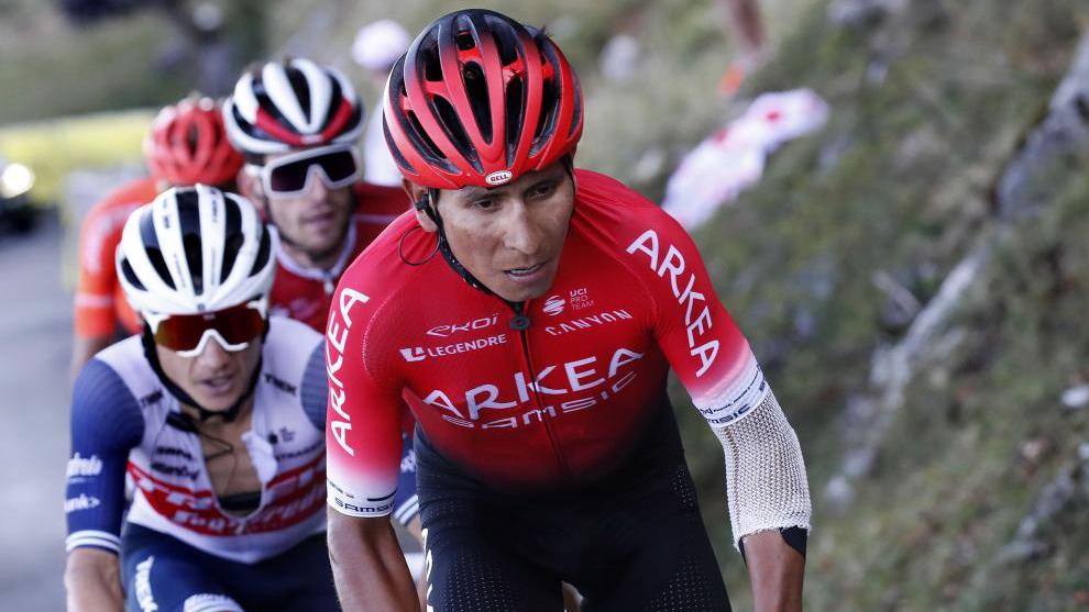 Nairo Quintana en la etapa del Grand Colombier