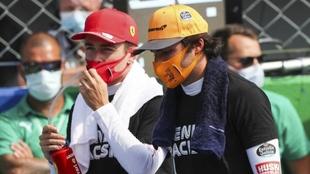 Charles Leclerc y Carlos Sainz.