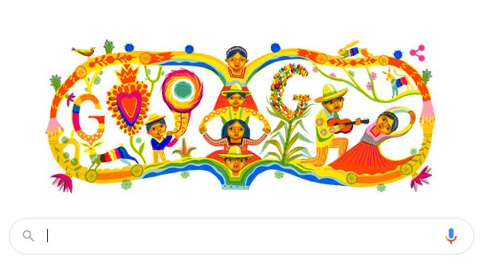 El doodle de Google por el Día de la Independencia de México