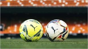 Imagen de los balones oficiales de LaLiga.