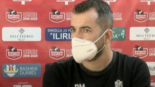 Diego Martínez durante la rueda de prensa previa //