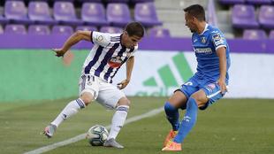 El Real Valladolid y el Getafe en un partido de la temporada 19-20