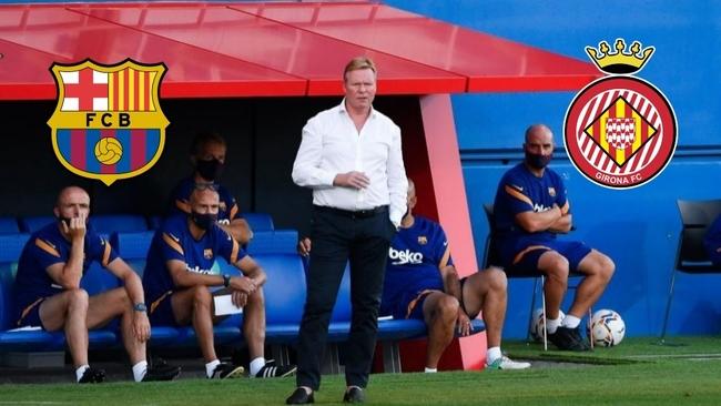 Ronald Koeman durante el partido de su debut