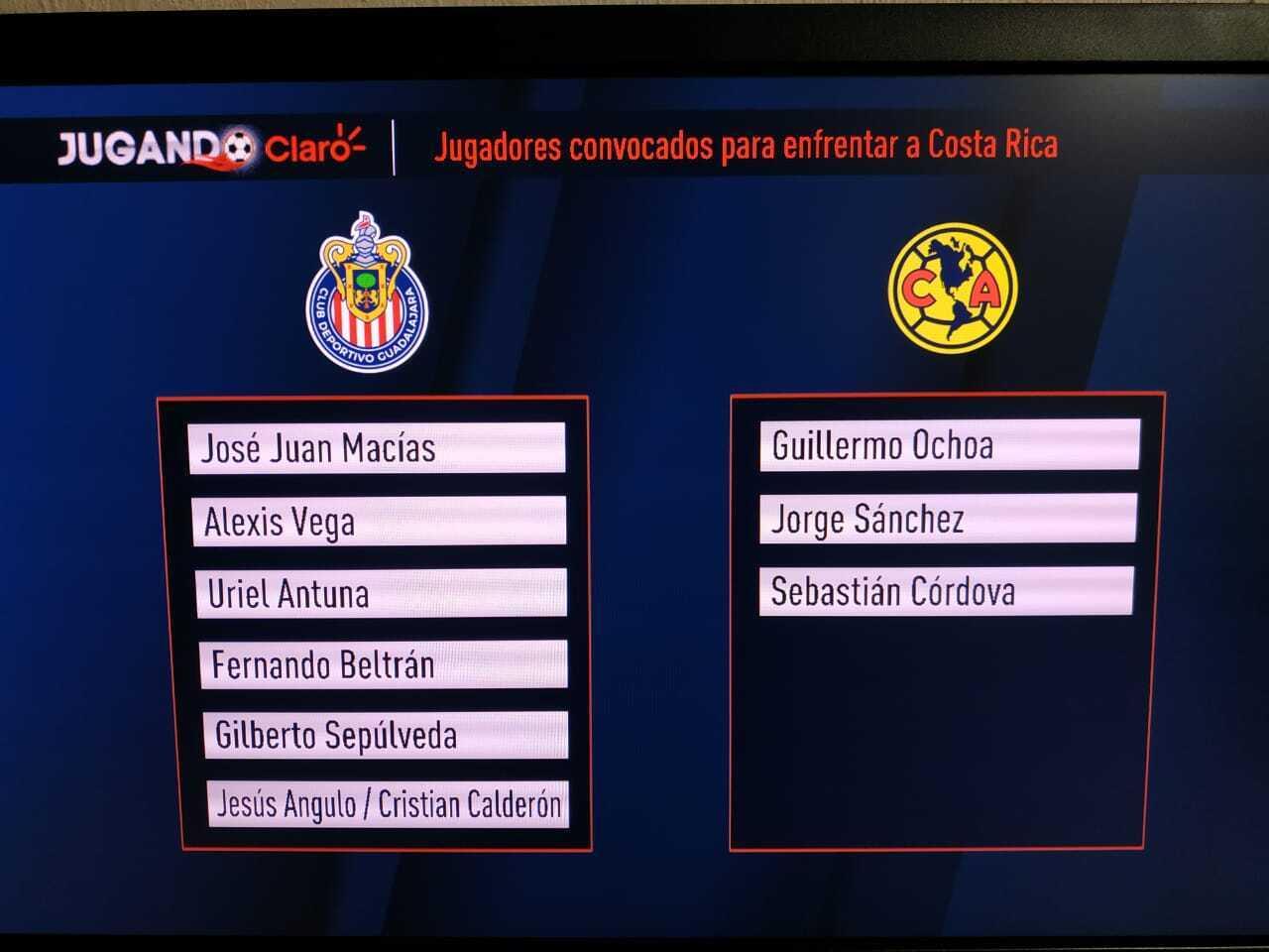 Chivas aportaría seis jugadores a la convocatoria del Tata Martino para el partido contra Costa Rica