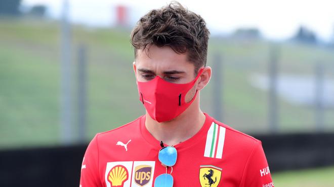 Charles Leclerc en el GP de Italia.