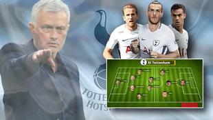 Es un equipazo lo mires por donde lo mires: el XI total de Mourinho si llega Bale al Tottenham