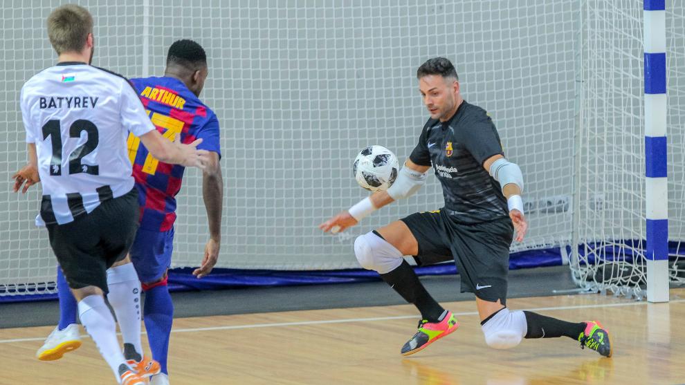 El Barça y el Tyumen se midieron en la pasada edición 2019-20 de la...