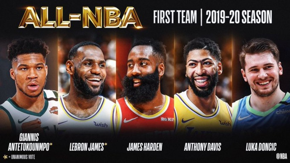 Doncic es incluido en el mejor quinteto de la temporada de la NBA