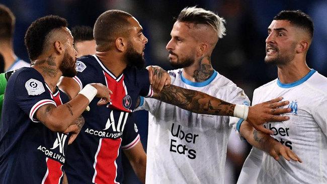 Ya hay sanciones de la pelea entre PSG y Marsella