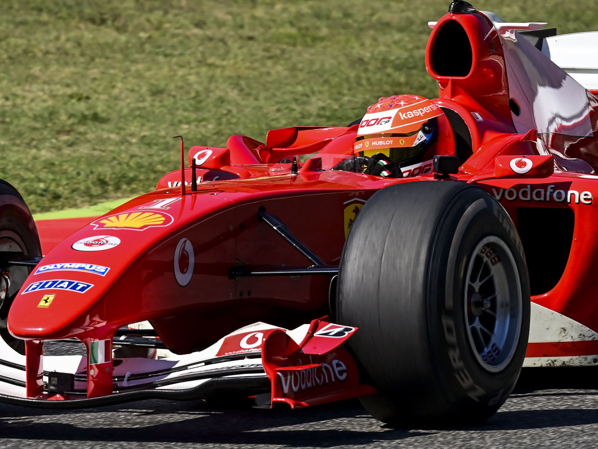 Mugello (Italy), 13/09/2020.- lt;HIT gt;Mick lt;/HIT gt; lt;HIT gt;Schumacher lt;/HIT gt; drives the Ferrari F2004 of his father Michael lt;HIT gt;Schumacher lt;/HIT gt; during a display run ahead of the Formula One Grand Prix of Tuscany at the race track in Mugello, Italy 13 September 2020. (Fórmula Uno, Italia) EFE/EPA/Miguel Medina / Pool