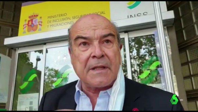 El actor Antonio Resines denuncia el colapso en oficinas de