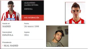 Alejandro Llama Rivera, ex jugador de la cantera del Atlético de...