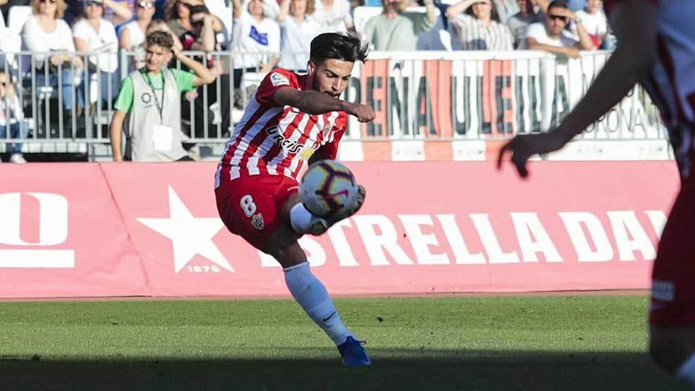 Chema Núñez, durante un partido con el Almería. Curro Vallejo