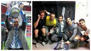 Roberto Martínez, Golobart, Ramis, Piscu, Joel y Jordi Gómez...