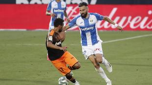 El griego, durante un partido con el Leganés la pasada temporada