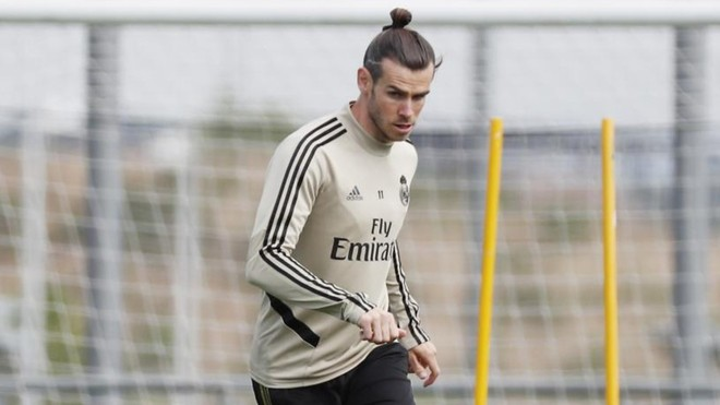 Bale,, entrenando en Valdebebas en una imagen de archivo