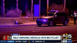 Imagen del accidente captada por la televisión americana ABC