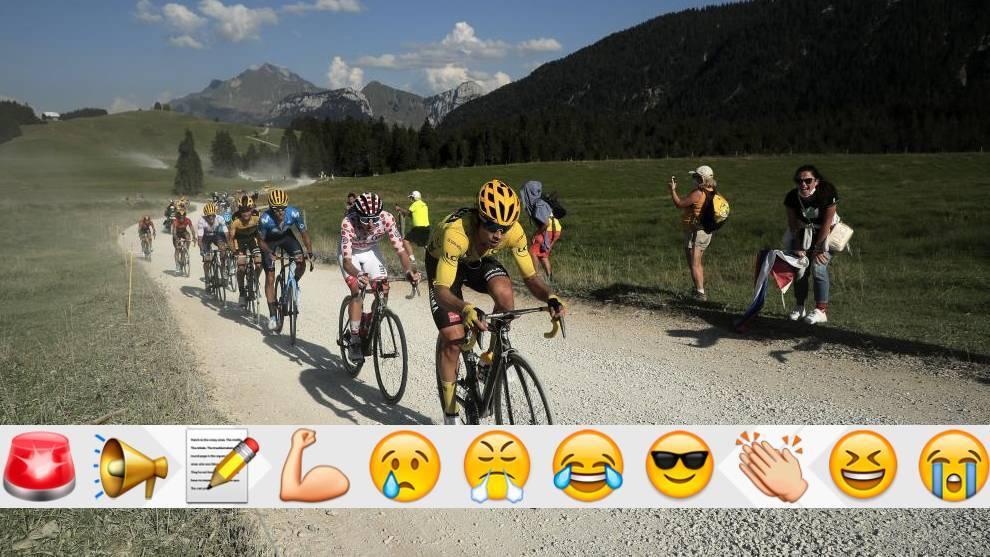 Y el último día de montaña del Tour, los rivales se animaron a atacar a Roglic