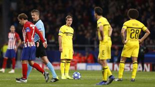Götze con el Borussia Dortmund ante el Atlético de Madrid en la Liga...