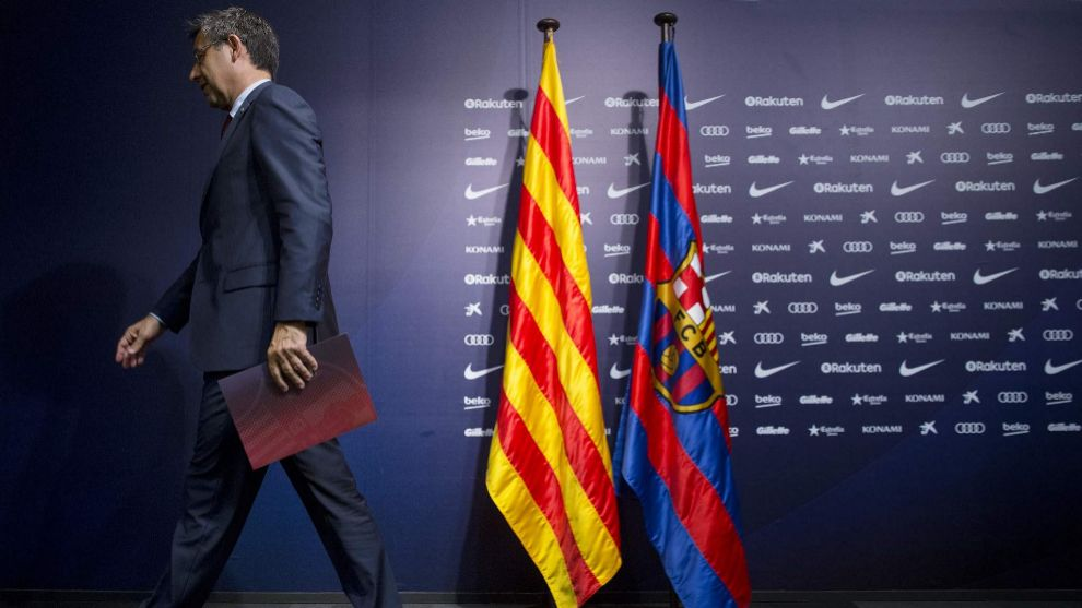 Vote of no confidence in Barcelona president passes — Josep Maria Bartomeu