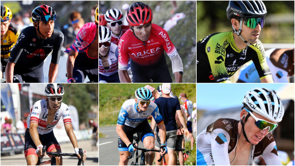 Ciclistas que han sufrido diversos perc