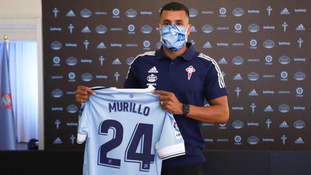 Jeison Murillo, en su presentación con el club celeste.