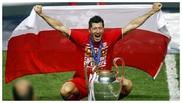 Lewandowski celebra la conquista de la Champions.